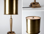 Brass Table Lamp with Glass Diffuser