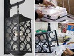 Hand Hammered Iron Exterior Wall Lantern