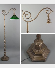English bronze lamp