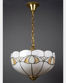 Leaded glass chandelier