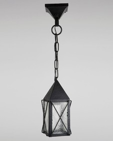 Hammered black lantern