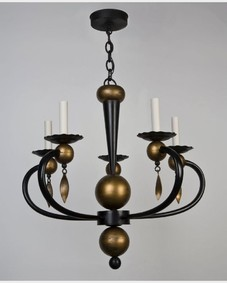 Enameled iron chandelier
