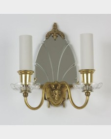 Bronze mirrored sconce