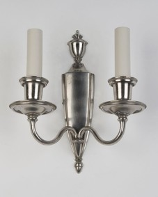 Two Arm Nickelplate Sconce