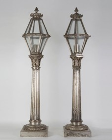 Pier-mounted lanterns