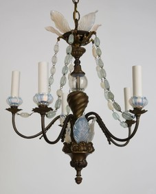 Opalescent glass chandelier