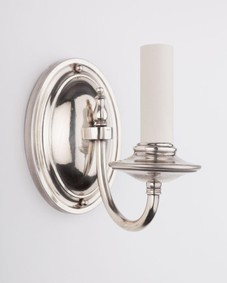 Oval-back silver sconces