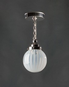 Vaseline glass pendant