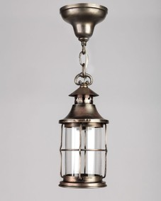 Darkened nickel lantern
