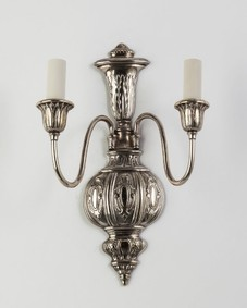 Silverplate sconces
