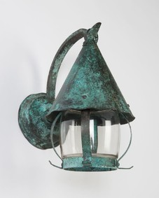 Verdigris wall lanterns