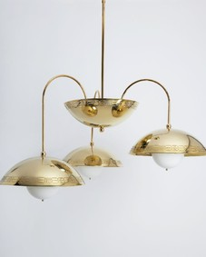 Triple Dome Chandelier