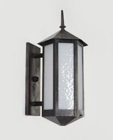 Blackened wall lanterns