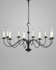French Single Tier Chandelier Large