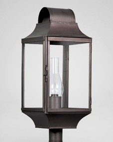New England Barn Exterior Post Lantern Large