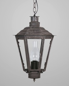 English Gas Exterior Hanging Lantern Small