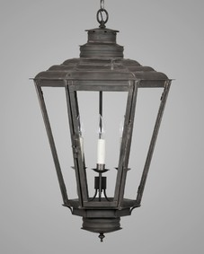 English Gas Exterior Hanging Lantern Large