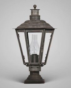 English Gas Exterior Post Lantern Small