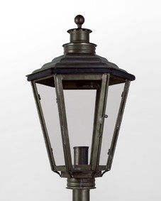 English Gas Exterior Post Lantern Medium