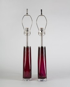 Red Orrefors lamps