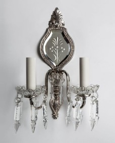 Silver mirrorback sconces