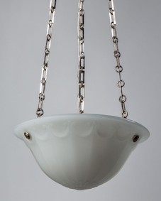 Opaline glass chandelier