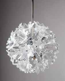 Flower glass sputnik chandelier
