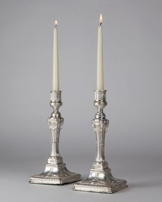 Silverplate candlesticks