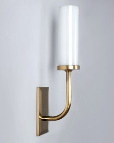 Aloysius Sconce with Glass Cylinder Shade