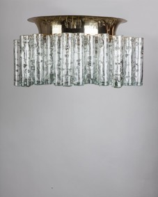 Doria glass flush mount