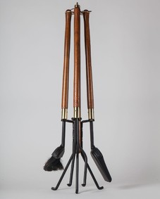 Wood fireplace tools