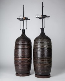 Large textured lamps
