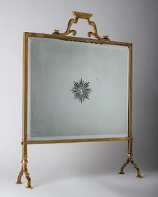 Mirrored fire screen