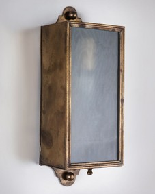 Rectangular brass sconces
