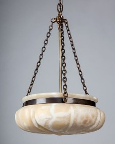 Alabaster dome chandelier