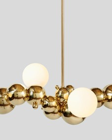 Bubbly 04-Light Linear Chandelier