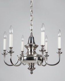 Silverplate chandelier