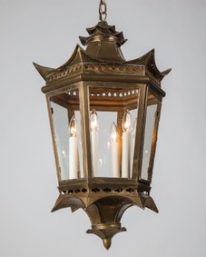 Asian brass lantern