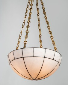 Leaded Glass Dome Chandelier