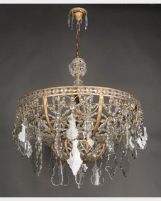 Beaded dome chandelier