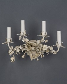Four-light tole sconces
