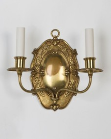 Aged bronze sconces
