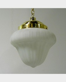 Opaline glass pendant