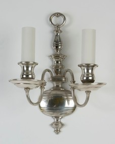 Silvered bronze sconces