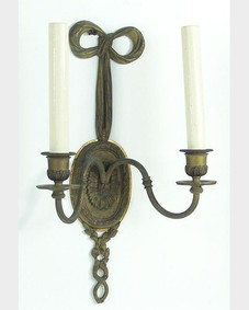 Bronze foliate sconces