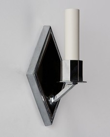 Glass and chrome sconce