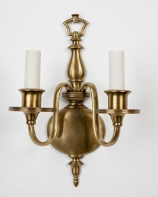 Cast brass sconces