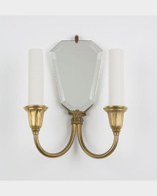 Mirrored brass sconces